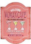 women cave tekstbord