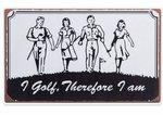 golfspelers op tekstbord golfsport golf