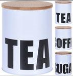 Voorraadblik Coffee, Tea, Sugar set 3