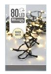 Kerstboomverlichting | 100 LED lichtjes | 10 meter zwart snoer / warm wit   Een sfeervolle Kerstboomverlichting van PROLINE.  L