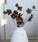kunstbloem bruin koper kunststof