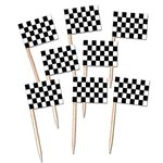"Cocktailprikkers ""Racing Flag"" 50 stuks"