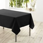 Tafelkleed textiel zwart 140cmx200cm