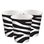 Bekers Zebra zwart wit