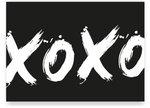 Kaart XOXO met envelop