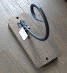 Wandhaak hout/metaal 20x8x18,5cm