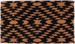Deurmat zwart/kokos40x 70cm