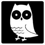 "Leuke wens-etiketten/Stickers |schoolbord zwart| ""UIL"" | Set 5stuks"