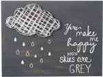 Tekstbord: You make me happy when skies are Grey