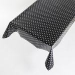Tafelzeil Dots/stippen Zwart Wit