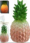 Ananas geel met led, werkt op batterijen 16 cm     Inclusief batterijen.