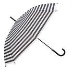 Paraplu | strepen wit zwart