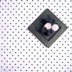 Tafelkleed Wit/Zwarte stip geplastificeerde stof