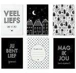 Sinterklaas cadeaukaartjes zwart wit