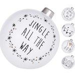 Kerstballen zwart wit staand