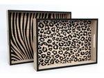 Dienbladen Set 2 | Dierenprint tijger panter print