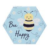Onderzetters BEE HAPPY set 4_