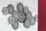 Wanddecoratie metaal Cirkels zwart wit