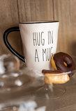 Mok Hug In Mug Keramiek Zwart/Wit_