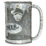 Flesopener Bierpul voor aan de muur IJzer