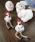 Schaap keramiek/wol| decoratie voor Pasen