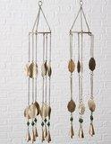 Windgong blad antiek goud.     Een mooie decoratie voor in de tuin, serre, overkapping of woning.