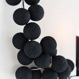 Cotton Ball Lights | Zwart | Wit