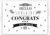 Kaart Hello Sunshine Congrats_
