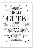 KaartHello Cute Baby welcome_