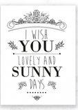 Kaart Sunny Days_