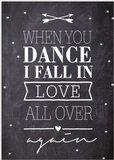 Kaart   When you dance_