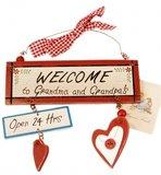 Tekstbordje | Vintage | Welcome_