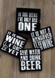 Onderzetters-set | BEER & WINE_