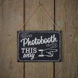 Tekstbord Photobooth This Way_
