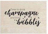 Houten kaart | NIEUWJAAR  | Time to drink champagne!_