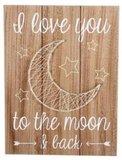 Tekstbord |I love you the the moon | Draad_