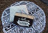 Strandtas zwart of beige