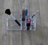 make up houder met vakken