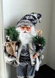 Kerstman op schaatsen   45 cm