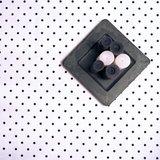 Tafelkleed Wit/Zwarte stip Gecoat_