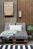Zwart Wit Matraskussens  Kussens voor tuinstoelen GestreeptTuinstoelkussens