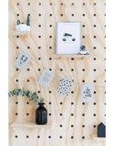 Kerst slinger wit met 9 kaarten  Mooie kerstslinger bestaande uit 9 verschillende A6 witte kaarten (3 q