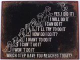Tekstbord | Which step have you reached today?_