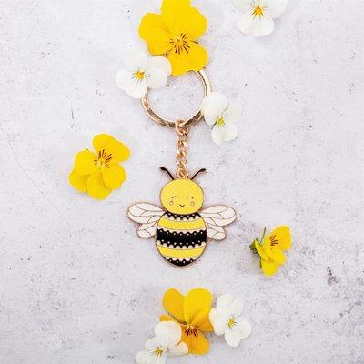 Sleutelhanger Bee Happy Sass & Belle