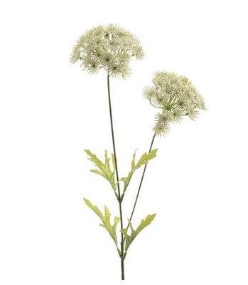 Schermbloem kunstbloem wit 60cm