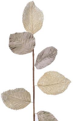 Metalen tak met bladeren 73 cm. set 2
