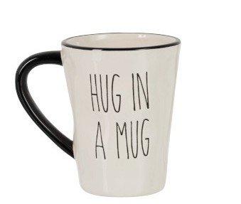 Mok Hug In Mug Keramiek Zwart/Wit