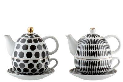 Tea for One Zwart wit Stip & Streep JLINE