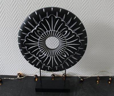 Ornament Zwart Wit Paneel