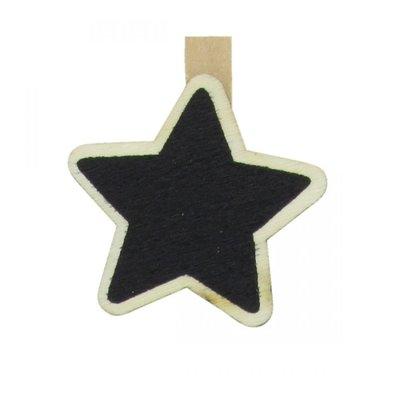 Krijtbordje op knijper kerstboom 3,5 cm (8 stuks)